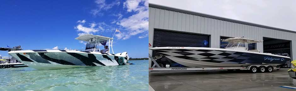 SUV and boat wraps